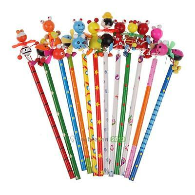 Cute Cartoon Pencil Wood Toy Kid Party Favor Supply Bag School Creative Gift