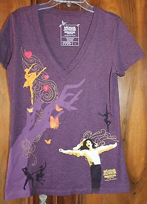Michael Jackson Immortal Cirque Du Soleil Women's T Shirt Size Large Purple