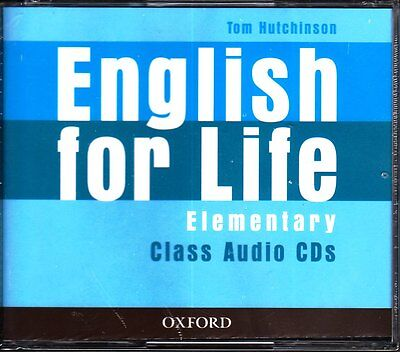 Oxford ENGLISH FOR LIFE Elementary CLASS AUDIO CDs / Tom Hutchinson @NEW Sealed@