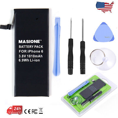 "1810mAh 3.8V Li-Ion Internal Replacement Battery For Apple iPhone 6 4.7"" + Tools"