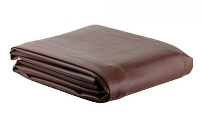 8' Fitted Pool Billiard Snooker Table Cover Heavy Duty Naugahyde Brown