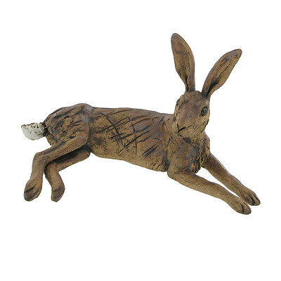 """BRAMBLE"" HARE RESIN SCULPTURE by PIPPA HILL FIGURE ORNAMENT HARES NEW & BOXED"