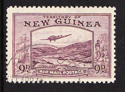 NEW GUINEA 1939 AIR 9d VIOLET SG 216 FINE USED.