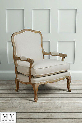 French Louis Style shabby chic OAK Dining Occasional ArmChair - Le Brun