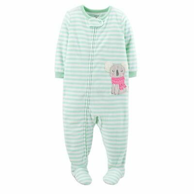 2e5bb1c44933 NEW NWT GIRLS 4T Carters Microfleece footed pajamas blanket sleeper ...