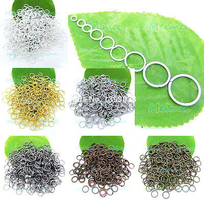 100 Open Jump Rings Split findings Jewelry Making Craft 3mm - 12mm Round Oval