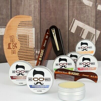 Beard Comb & Beard Balm Styling Kit | Pocket Friendly | 3 Combs + 8 Scents