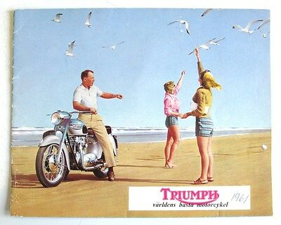 TRIUMPH RANGE Motorcycle Brochure SWEDISH TEXT Oct 1960 #630/60  Tiger Trophy ++
