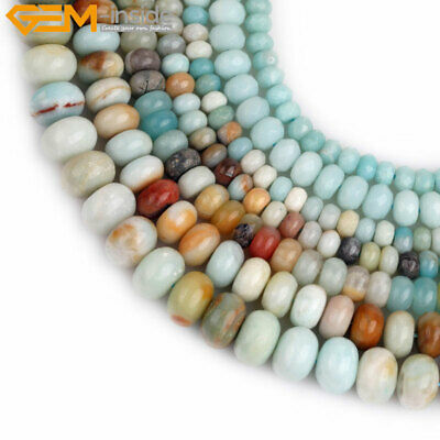 Natural Stone Rondelle Spacer Beads Gemstone Loose Beads For Jewelry Making 15""