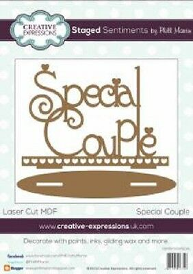 Creative Expressions Laser Cut MDF STAGED Sentiments SPECIAL COUPLE Phil Martin