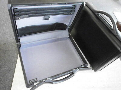 "5"" Used Samsonite Executive Briefcase Attache Computer  Case  Black Gun Tools"