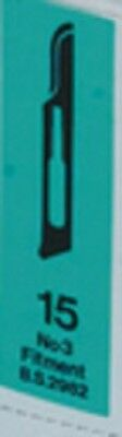 #15 Carbon Steel Surgical Blades 100pk