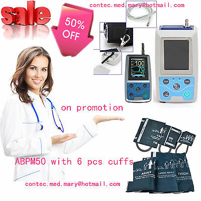FDA CE, Automatic Ambulatory Blood Pressure Monitor 24Hrs Arm NIBP,CONTEC ABPM50