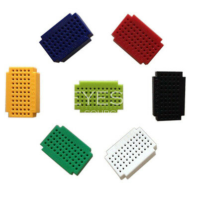 7pcs Mini 55 Points Breadboard Solderless Prototype Tie-point For Arduino NEW