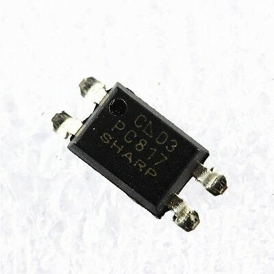 50pcs SHARP PC817 PC 817 SOP-4 SMD Optocoupler NEW