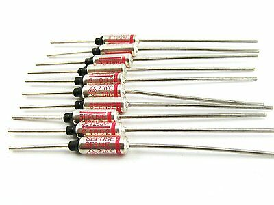 10 Pcs NEC SEFUSE Cutoffs SF214E 216 °C 10A 250V Thermal Fuse Microtemp NEW