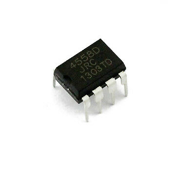 100Pcs Jrc4558D Jrc 4558D Dip8 Opamp Op Amps Chip Ic