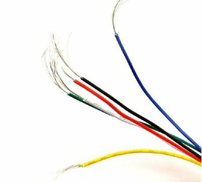 10M UL-1007 24AWG Hook-up Wire 80°C / 300V Red/Yellow/Black/White/Blue 6 Colors