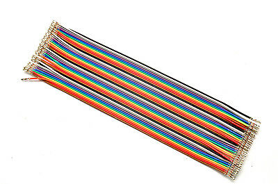40pcs Dupont Jumper Cable Wire 1P Female Pins Connector 2.54mm 20cm DIY