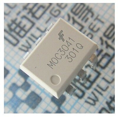 10Pcs Moc3041 Dip-6 Fsc Optocouplers New Good Quality