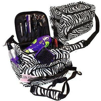 Professional Hairdressing Bag Zebra Portable Travel Storage Hair Tool Case Salon