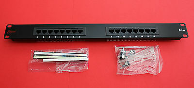 "FUSION Cat5 16 Way 1U Patch Panel ""NEW"""