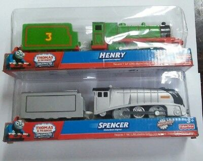 Fisher Trackmaster Thomas Battery Motorized Train-Henry+Diesel 10 + Truck 2 Lots