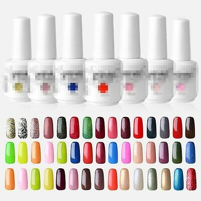 Soak Off  Esmalte De Uñas Permanente Manicura UV Gel Polish Top Coat Base Nuevo