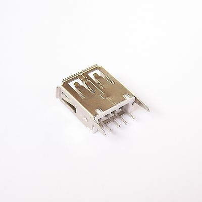 50 PCS USB Connector Type A 4 Pin Receptacle Female Vertical Mount Socket