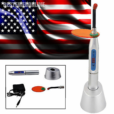 NEW Dental 5W Wireless Cordless LED Curing Light 1500mw for Dentist Silver USA *