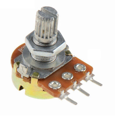 10pcs 1K Ohm Linear Taper Rotary Potentiometer Panel pot B1K 15mm