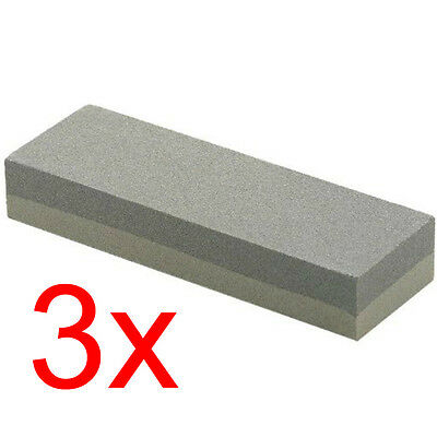 "3 X Quality Aluminium Oxide Sharpening Oil Stone Fine Medium Grade 8"" Hand Tools"