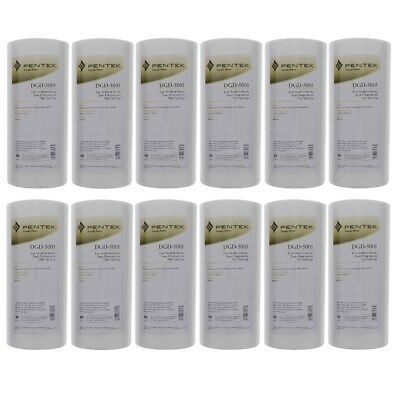 Pentek DGD-5005 5 Micron Whole House 10 Inch Sediment Water Filter 12 Pack