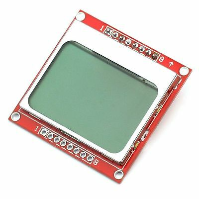 2PCS 84X48 84*48 Nokia 5110 LCD Module with blue backlight adapter PCB