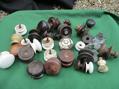 Vintage Knobs Handles Chest of Drawers Dresser Pulls Job Lot Bulk Ceramic Wood