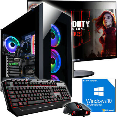 Gamer PC Komplett-Set INTEL i7 8700K 6X 4,7GHz Nvidia RTX2070 8GB Gaming Turbo!