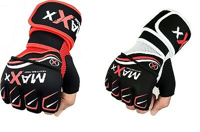 Maxx Gel MMA Grappling Gloves Boxing Hand Wraps Punch Bag Fight Muay Thai Gloves