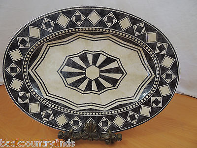 "222 Fifth PTS International ""San Marcos"" 14 3/4"" Oval Serving Platter"