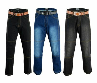 Motorbike Motorcycle Denim Trousers Jeans Pant With Armour  size 30 to 50 waist