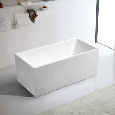 Bathroom Free Standing Bath Tub 1300x700x600 Thin Edge Freestanding REN185-1300