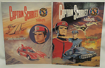 Captain Scarlet : Indestructible / Spectrum Is Green Soft Cover Books - 1993