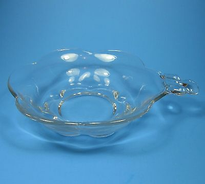 Duncan & Miller CANTERBURY Clear Glass Nappy Handled Bowl
