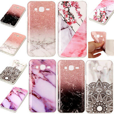 Marble Granite Soft Rubber TPU Case Cover For Samsung Galaxy S7 S8 Plus J3 J5 A3