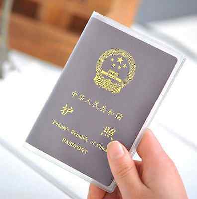 Clear Transparent Passport Cover Holder Case Organizer Credit ID Card Protector