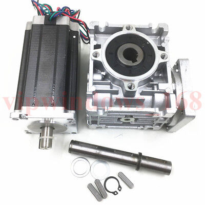 Worm Gearbox 30:1 Speed Reducer Nema23 90Nm Stepper Motor L112mm 4.2A CNC Router