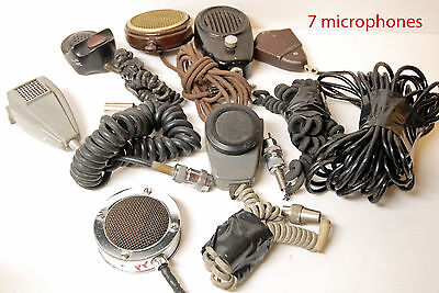 MICROPHONES de table -  LOT DE 7 MICROS   -  RARE & COLLECTOR