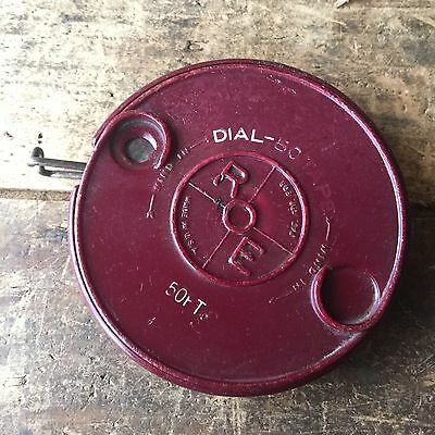 Vintage Hand Tools BAKELITE 50 feet Measuring TAPE Made In USA Antique Old #2