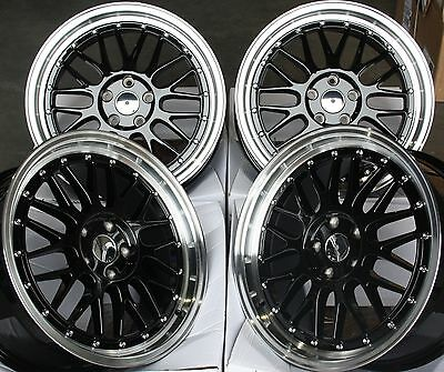 "18"" G Black Rt Alloy Wheels Fits Volkswagen Phaeton Tiguan Touran Transport T4"