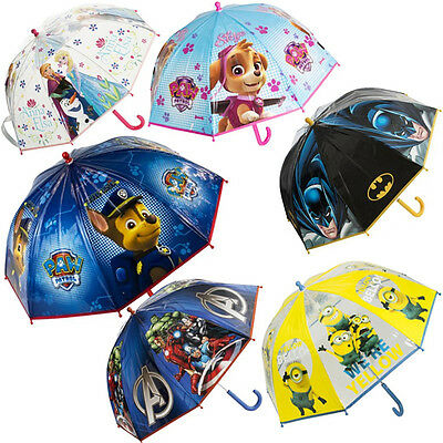 Disney Marvel Minions Frozen Kids Umbrellas Brolly Waterproof Dome Unisex Gift