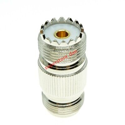 N female to UHF female SO-239 SO239 jack Straight RF coaxial adapter connector
